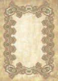 Ornamental floral vintage frame design Stock Image