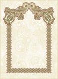 Ornamental floral vintage frame design Royalty Free Stock Images