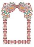 Ornamental floral vintage frame design Stock Photos