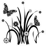 Ornamental floreale 33 della farfalla Fotografia Stock