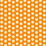 Ornamental flower. Decorative ornamental orange floral wallpaper background design Royalty Free Stock Photos