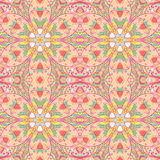 Ornamental flower arabesque background. Seamless abstract pattern background. Ornament endless texture Royalty Free Stock Image
