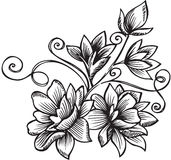 Ornamental Flower Bouquet Vector Illustration Stock Photo