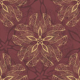Ornamental flower lace pattern, background with many details Stock Photography
