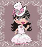 Bride (Animated cartoon). Royalty Free Stock Photo