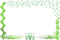Ornamental flowers and small butterflies. With space for your text vector illustration