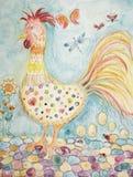 Ornamental folk art rooster.