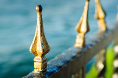 Ornamental Forged Railing Heads Royalty Free Stock Photos