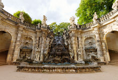 Ornamental fountain Nymphs Bath Nymphenbad in Zwinger Royalty Free Stock Photo