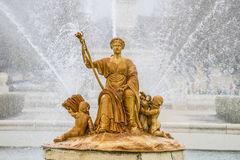 Ornamental fountains of the Palace of Aranjuez, Madrid, Spain Stock Photo