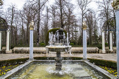 Ornamental fountains of the Palace of Aranjuez, Madrid, Spain. Places of Palace of Aranjuez, Madrid, Spain Stock Photography