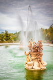 Ornamental fountains of the Palace of Aranjuez, Madrid, Spain. Stock Photo