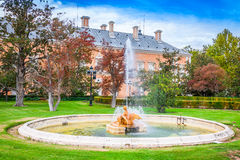 Ornamental fountains of the Palace of Aranjuez, Madrid, Spain. Stock Images