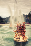 Ornamental fountains of the Palace of Aranjuez, Madrid, Spain. Royalty Free Stock Photo