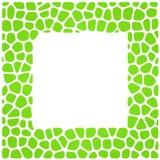 Ornamental frame. Green ornamental frame of tiles. Isolated over white Stock Image