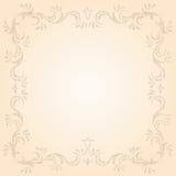 Ornamental frame. Decorative template grunge background, illustration Stock Images