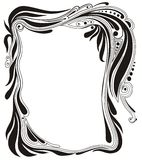 Ornamental frame. Abstract floral background Royalty Free Stock Image