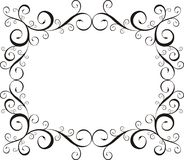 Ornamental  frame. Ornamental frame with floral ornaments, very easy to edit Royalty Free Stock Photography
