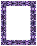 Ornamental frame. Ornamental frame of iterative elements. Isolated over white Royalty Free Stock Photos