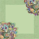 Ornamental frame. Ornamental background with decorative border royalty free illustration