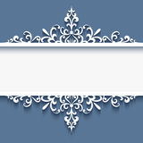 Ornamental frame with cutout paper swirls royalty free illustration