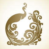 Ornamental frame with decorative bird. Ornamental frame with decorative magic bird. Vector illustration Royalty Free Stock Image