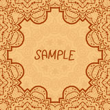 Ornamental frame, delicate floral pattern. Vector Stock Photo
