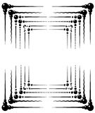 Ornamental Frame Designs (Vector). A collection of six (6) ornamental frame designs in vector format, black and white, editable to apply your own color Stock Photos