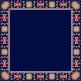 Ornamental frame . Ethnic motives. Vector illustration. Lovely tablecloth Royalty Free Stock Photos