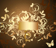 Ornamental frame gold Royalty Free Stock Photography