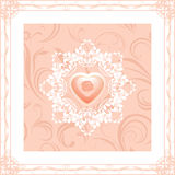 Ornamental frame with heart. Decorative element to the Valentines day Stock Images
