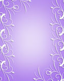 Ornamental frame Lavender and white Royalty Free Stock Photo