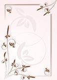 Ornamental frame for letter Royalty Free Stock Images