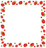 Ornamental Frame Made of Strawberry Stock Photo