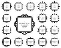 Ornamental frame set Stock Photos