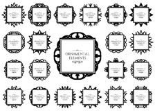 Ornamental frame set Royalty Free Stock Images