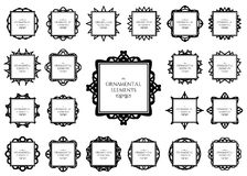 Ornamental frame set Royalty Free Stock Photography