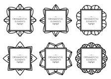 Ornamental frame set Royalty Free Stock Image