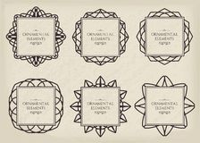 Ornamental frame set Royalty Free Stock Photo