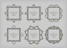 Ornamental frame set Royalty Free Stock Photos