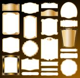 Ornamental frame set. Vector Royalty Free Stock Image