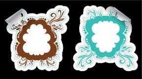 Ornamental frame stickers Stock Photos