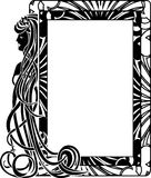 Ornamental frame in style Art Nouveau. With long hair girl stock illustration