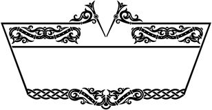 Ornamental frame. Vector ornament frame with celtic elements Stock Photography