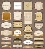 Ornamental frame. Vector set. Vector illustration ornamental frame set. on brown background Royalty Free Stock Image