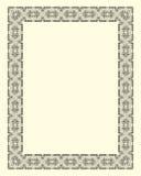 Ornamental  frame vintage. In editable vector file Royalty Free Stock Photo