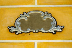 Ornamental frame on a wall Stock Images