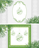 Ornamental frames with Christmas balls Stock Photos
