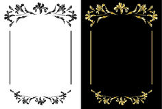 Ornamental frames with flowers Stock Image