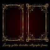 Luxury golden decorative calligraphic frames - vector set stock photos